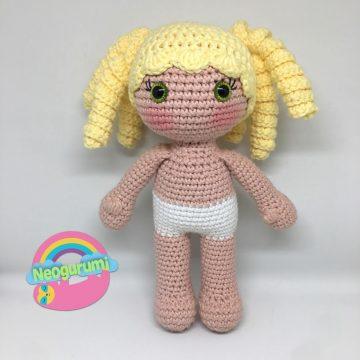 2-PATTERN PACK! Baby in Bear Onesie Amigurumi Doll (6