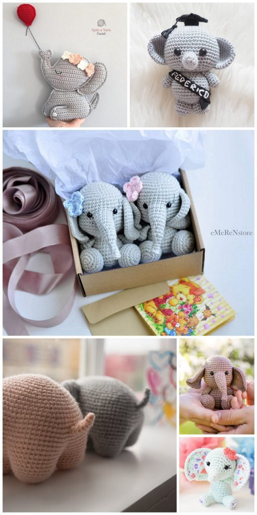Crochet Elephant Softie and More Free Patterns Tutorials | 1024x512