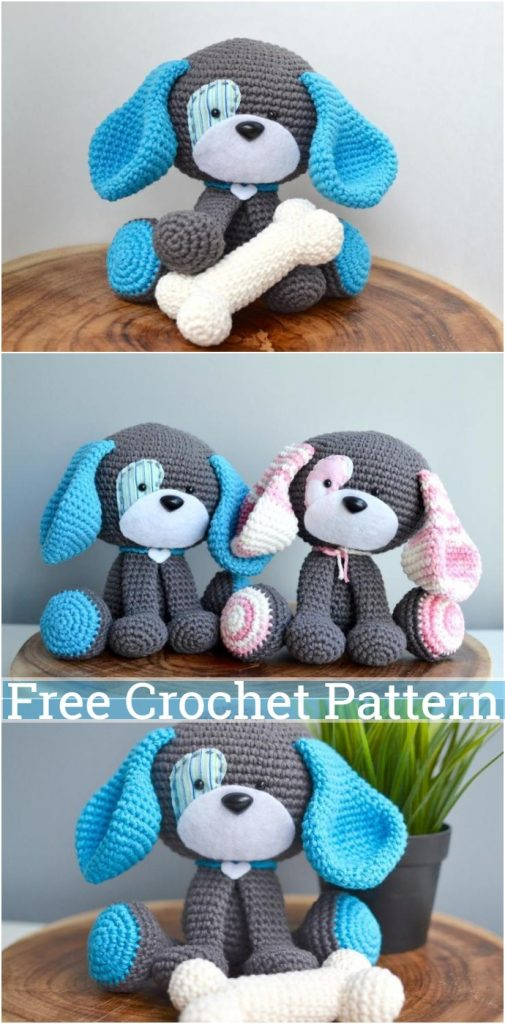25 Free Amigurumi Dog Crochet Patterns to Download Now! | 1024x505