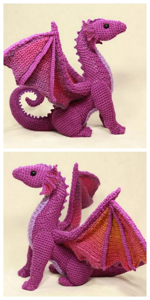 Vincent the Dragon | Free Crochet Pattern Amigurumi | Hooked by Kati | 1024x512