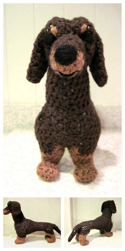 Crochet dachshund dog amigurumi pattern | Amigurumi Space | 1024x512