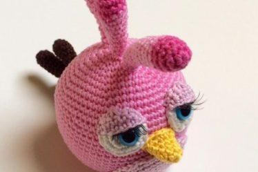 Patrón llavero amigurumi Angry Birds rojo | Llaveros amigurumi ... | 249x374