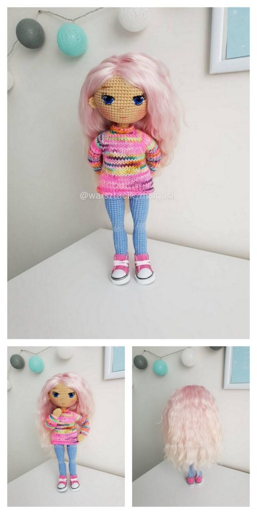 Amy the Amigurumi Doll - A Free Crochet Pattern - Grace and Yarn | 1024x512